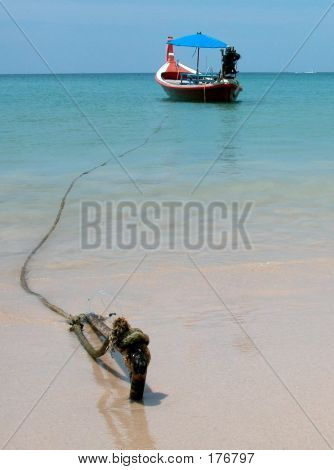 Boat On The Thai Beach