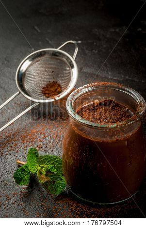 Chocolate Dessert  With Mint