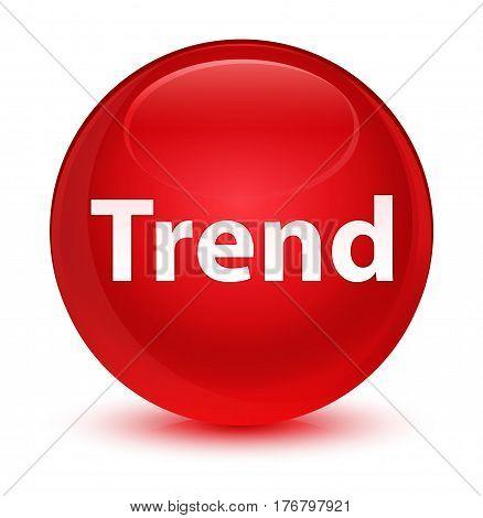 Trend Glassy Red Round Button