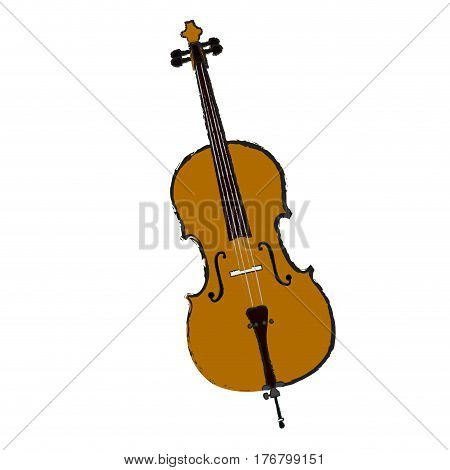 Isolated cello on a white background, Vector illustration
