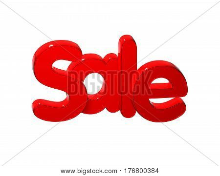 3 D Word Sale over white background.