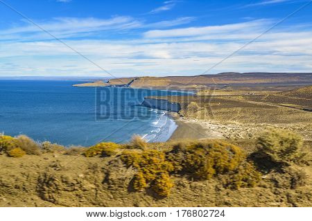 Seascape View From Punta Del Marquez Viewpoint, Chubut, Argentina
