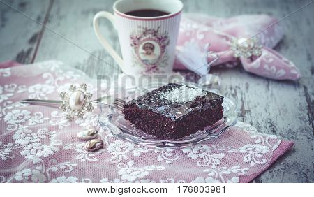 Cake And Coffe Vintage Style
