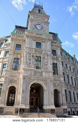 Quebec City Court House is a Second Empire style architecture located at Old Quebec City, Quebec, Canada.