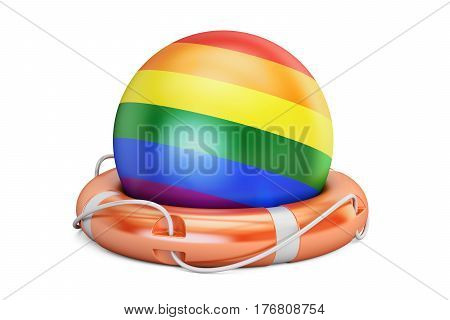 Support LGBT concept 3D rendering isolated on white background