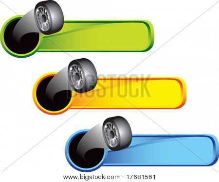 tires on colored tabs