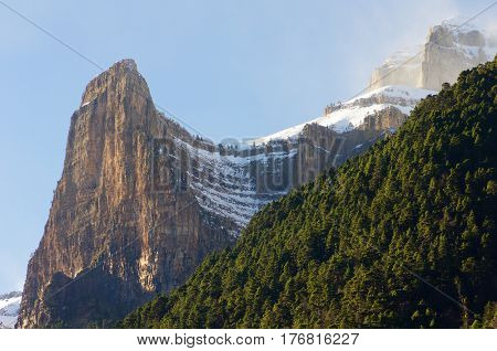 Tozal del Mallo, Ordesa National Park, Pyrenees, Huesca, Aragon, Spain