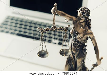 Justice And Law Concept In Technology
