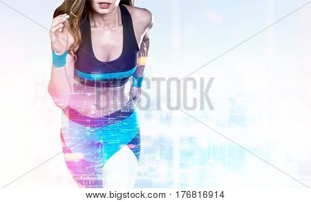 Close Up Of Woman Jogger In Office