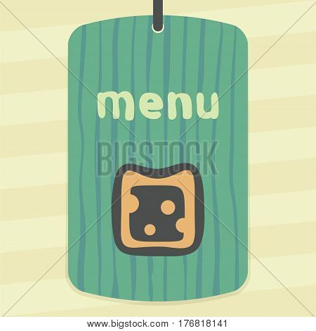 Vector outline cheese sandwich food icon on label with hand drawn striped background. Elements for mobile concepts and web apps. Modern infographic logo and pictogram.