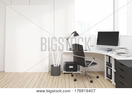 Workplace With Black Closet, Side
