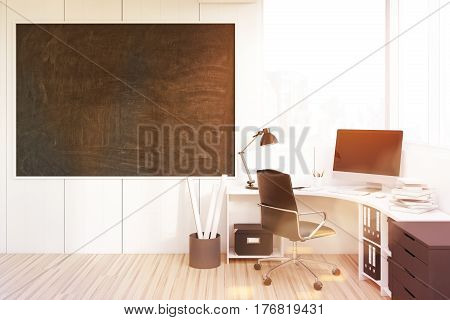 Ceo Room With A Blackboard, Toned