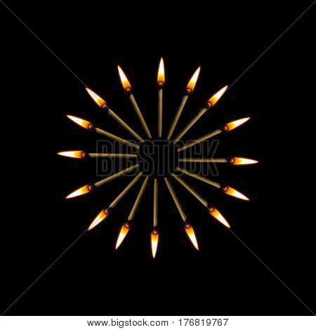 flame decoration yellow Burning match hot darkness Burning match culture spirituality splash movement action religion pattern abstract