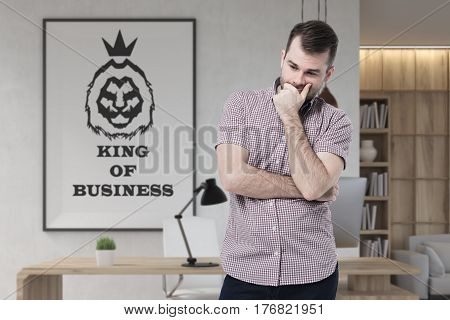 Businessman In Pink And King Of Business