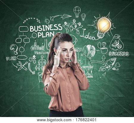 Stressed Woman And Business Plan