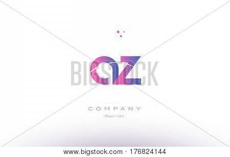 Az A Z  Pink Modern Creative Alphabet Letter Logo Icon Template