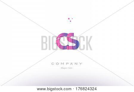 Cs C S  Pink Modern Creative Alphabet Letter Logo Icon Template