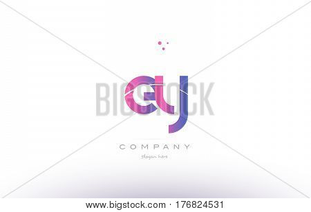 Ey E Y  Pink Modern Creative Alphabet Letter Logo Icon Template