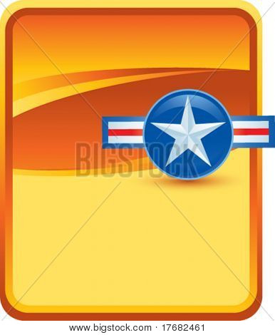air force symbol on gold background