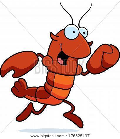 Crawfish Running