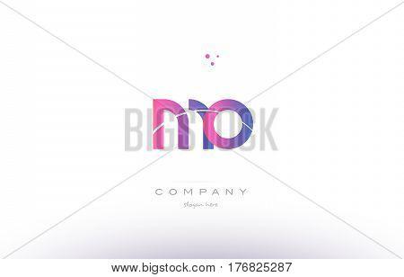 Mo M O  Pink Modern Creative Alphabet Letter Logo Icon Template