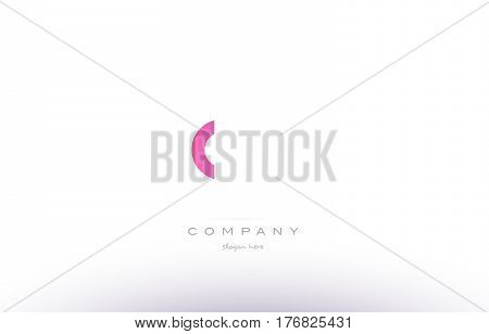 Nw N W  Pink Modern Creative Alphabet Letter Logo Icon Template