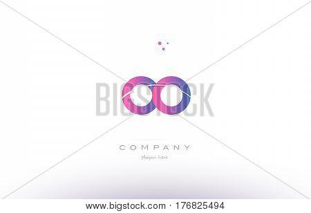 Oo O  Pink Modern Creative Alphabet Letter Logo Icon Template