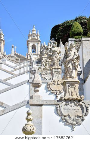Particularly Of The Sanctuary's Staircase Of Bom Jesus