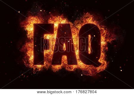 faq fire text flame flames burn burning hot explosion explode