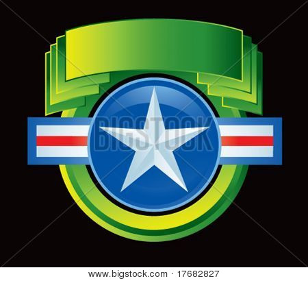 air force icon on green display