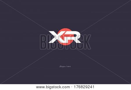 Xp X P  Vintage Retro Pink Purple Alphabet Letter Logo Icon Template