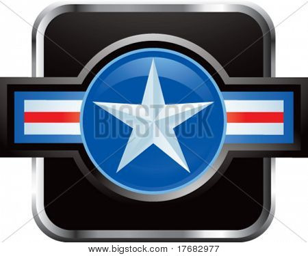 air force symbol on web button