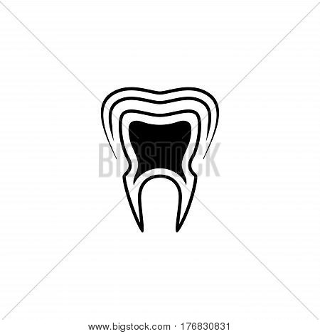 Oral Health Icon. Flat Design Isolated Illustration.