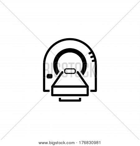 Tomography Icon. Flat Design Isolated Illustration. X-ray electronics.