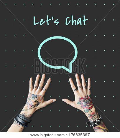 Speech Bubble Contacts Communication Connection