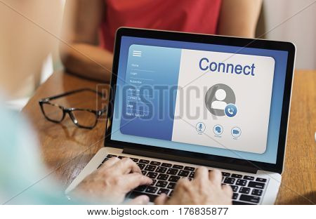 Online video calling profile interface