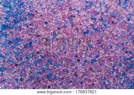 Closeup to Moisturized Silica Gel Background/ Texture