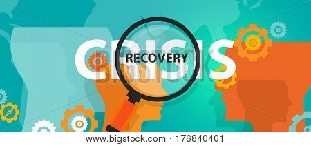 crisis and recovery from depression concept of thinking analysis mindset thoughts vector