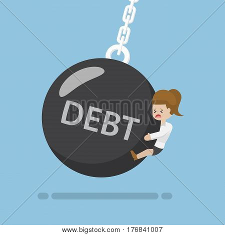 Businesswoman Is Hit By Debt Wrecking Ball