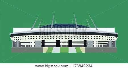 Minsk Belarus - February 7 2017: russian sport stadium Krestovsky also called Zenit Arena in Saint Petersburg for 2018 FIFA World Cup taking place from June 14 to July 15