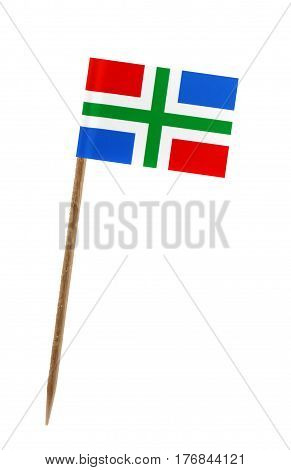 Tooth pick wit a small paper flag of Groningen