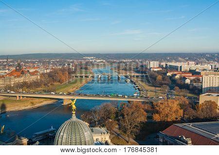 Dresden from the height of bird flight.