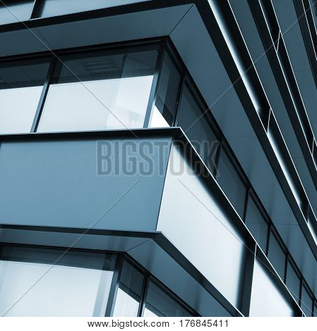 Modern Industrial Building Facade Abstract