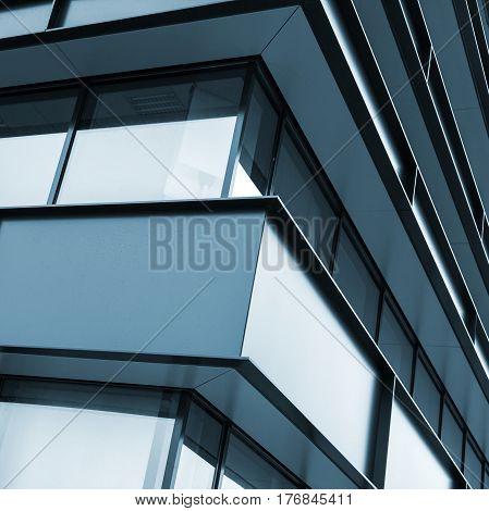 Modern Industrial Building Facade Abstract