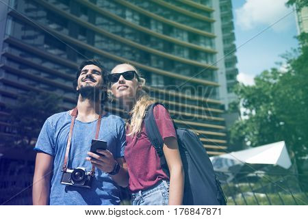 Photo Gradient Style with Couple traveling together wanderlust trip