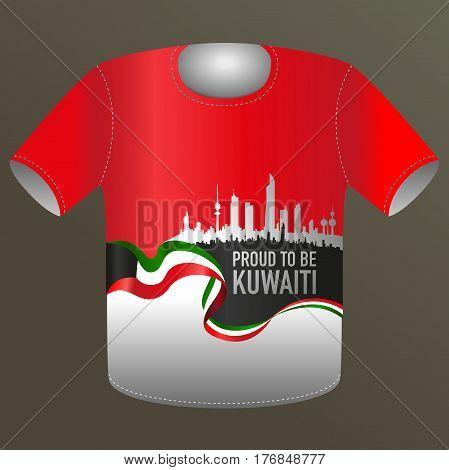 National Day Promotional Item - Proud To Be Kuwaiti Tshirt Design