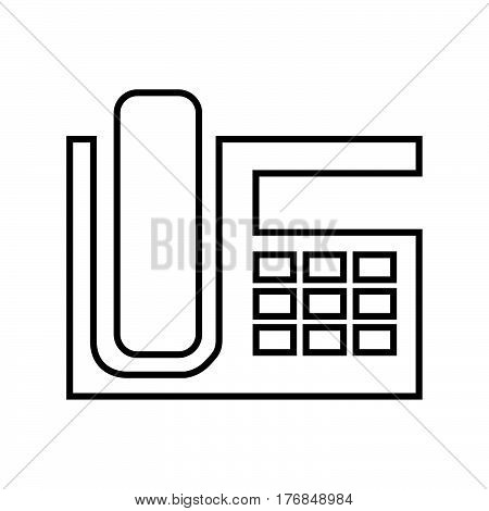 a Simple thin line telephone icon vector