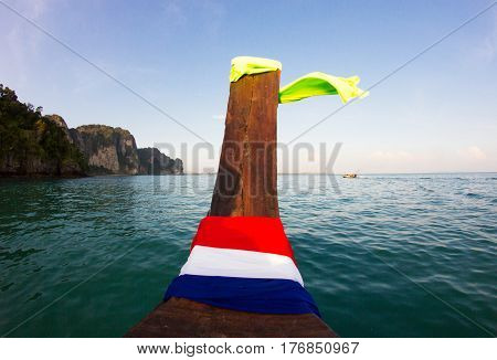 Nose of Longtail boat, Krabi province, Thailand
