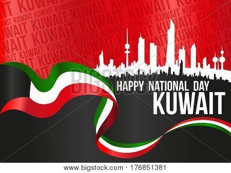 Happy National Day Kuwait - Horizontal Poster