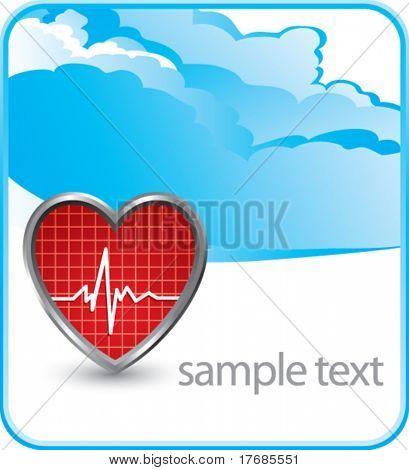 heart beat on cloud banner